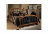 Iron Bed / Metal Bed - Burton Bed in Textured Black / Cherry - Hillsdale Furniture