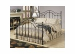 Iron Bed / Metal Bed - Chandler Casted Bed in Antique Gold Finish - Powell Furniture