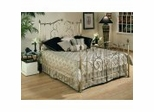 Iron Bed / Metal Bed - Crestview Bed in Vintage Brass Finish - Powell Furniture