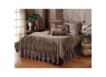Iron Bed / Metal Bed - Doheny Bed in Antique Pewter - Hillsdale Furniture