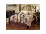 Iron Bed / Metal Bed - Kirkwell Bed in Brushed Bronze Finish - Hillsdale Furniture
