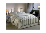 Iron Bed / Metal Bed - Lincoln Bed in Antique Pewter Finish - Hillsdale Furniture