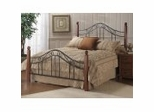 Iron Bed / Metal Bed - Madison Bed in Textured Black - Hillsdale Furniture