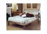 Iron Bed / Metal Bed - Mansfield Bed in Brushed Silver - Hillsdale Furniture