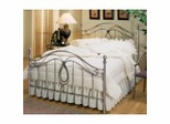 Iron Bed / Metal Bed - Milano Bed in Antique Pewter Finish - Hillsdale Furniture