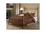 Iron Bed / Metal Bed - Riverside Bed in Antique Bronze - Hillsdale Furniture
