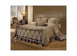 Iron Bed / Metal Bed - Silverton Bed in Brushed Silver - Hillsdale Furniture