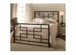 Iron Bed / Metal Bed -Terrace Bed in Textured Black - Hillsdale Furniture