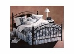 Iron Bed / Metal Bed - Willow Bed in Textured Black Finish - Hillsdale Furniture