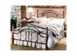 Iron Bed / Metal Bed - Winsloh Bed in Black and Medium Oak Finish - Hillsdale Furniture