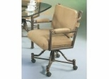 Iron Caster Chair in Autumn Rust - Pastel - 1478-AR