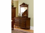 Isabella Dresser with Mirror in Oak - Coaster - 200513-14-SET