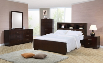 Jessica California King Size Bedroom Furniture Set in Light Cappuccino - Coaster - 200719KW-BSET