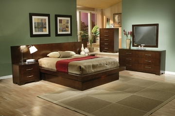 Jessica Eastern King Size Bedroom Furniture Set 1 in Light Cappuccino - Coaster - 200711KE-BSET-1