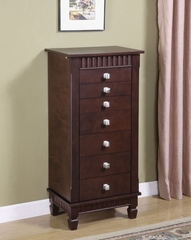 """Jewelry Armoire - Contemporary """"Merlot"""" - Powell Furniture - 383-316"""