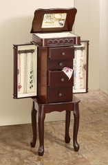 Jewelry Armoire in Cherry - 903801