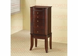 Jewelry Armoire in Cherry with Green Felt Lined Drawers - Coaster