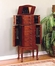 """Jewelry Armoire in """"Classic Cherry"""" - Powell Furniture - 881-315"""