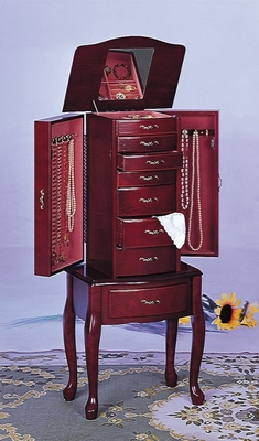 Jewelry Armoire in Mahogany - Coaster