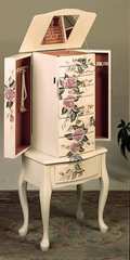 Jewelry Armoire in Off White - Coaster