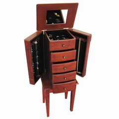 Jewelry Armoire in Walnut - Addison - Jewelry Boxes by Mele - 00903S11