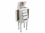 Jewelry Armoire in White - Alexis - Jewelry Boxes by Mele - 0087811