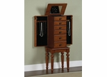 "Jewelry Armoire - Lightly Distressed ""Deep Cherry"" - Powell Furniture - 987-317"