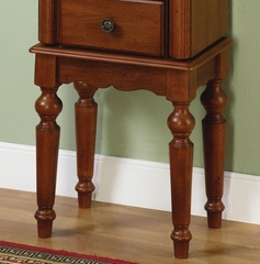 """Jewelry Armoire - Lightly Distressed """"Deep Cherry"""" - Powell Furniture - 987-317"""