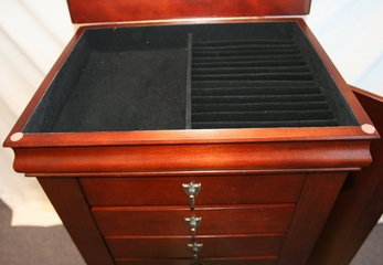 """Jewelry Armoire - Louis Philippe """"Marquis Cherry"""" - Powell Furniture - 508-315"""