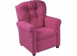 Juvenile Recliner Traditional Racy Pink Microfiber