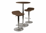Kallie 3-Pc Pub Set In Cappuccino - Winsome Trading - 93344