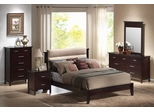 Kendra Queen Size Bedroom Furniture Set in Mahogany - Coaster - 201291Q-BSET