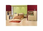Kids Bedroom Furniture Collection in Natural Maple - Alegria Collection - Nexera Furniture