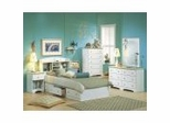Kids Bedroom Furniture Collection in Pure White/Maple - South Shore Furniture
