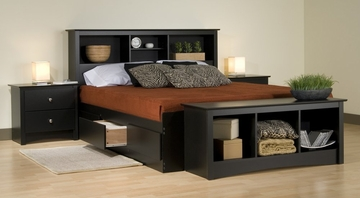 Kids Bedroom Furniture Set 2 in Black - Sonoma Collection - Prepac Furniture - SNM-BSET-2