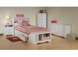 Kids Bedroom Furniture Set 2 in White - Monterey Collection - Prepac Furniture - MTR-KBSET-2