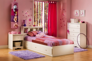 Kids Bedroom Furniture Set in Pure White - South Shore Furniture - 3550-BSET-1