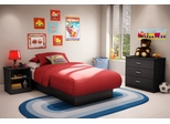 Kids Bedroom Furniture Set in Solid Black - South Shore Furniture - 3070-BSET-12