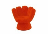 Kids Chair and Seating - Mini Mitt Chair in Orange - LumiSource - CHR-MITTMINI-O
