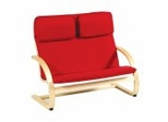Kids Couch - Kiddie Couch in Red - Guidecraft - G6401