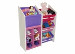 Kids Super Storage with 3 Pastel Bins, Book Holder and 6-Slot Cubby - RiverRidge - 02-041