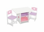 Kids Table and Chair Set - Heart Table and 2 Chair Set - KidKraft Furniture - 26913