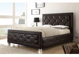 Kindell Queen Size Upholstered Bed in Dark Brown - 300381Q