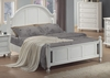 King Size Bed - Kayla Eastern King Size Bed in White - Coaster - 201181KE
