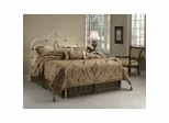 King Size Bed - Victoria King Size Bed in Antique White - Hillsdale