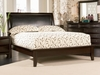 King Size Platform Bed - Phoenix Eastern King Size Platform Bed in Rich Deep Cappuccino - Coaster - 200410KE
