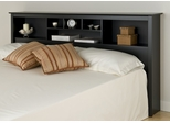 King Size Storage Headboard in Black - Sonoma Collection - Prepac Furniture - BSH-8445