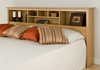 King Size Storage Headboard in Maple - Sonoma Collection - Prepac Furniture - MSH-8445