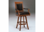 Kingston Game Swivel Leather Back Barstool - Hillsdale Furniture - 6004-831