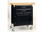 Kitchen Cart - Dolly Madison Black Prep and Serve - Home Styles - 4508-95